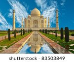 taj mahal in india | Shutterstock . vector #83503849