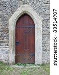 Medieval Front Door In The...