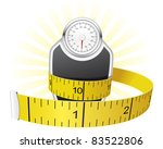weights and tape measure | Shutterstock .eps vector #83522806