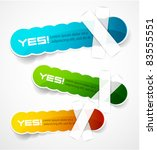 color vector labels | Shutterstock .eps vector #83555551