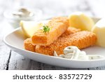 Fresh Fish Fingers With...