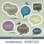 speech bubbles set - stock vector