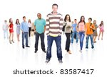 group of people on white | Shutterstock . vector #83587417