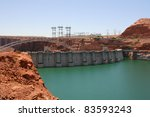 Glen Canyon Dam And The Lake...