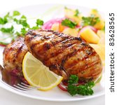 grilled chicken breast with... | Shutterstock . vector #83628565