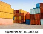 stacks of multi colored cargo
