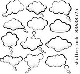 set of comic style speech...   Shutterstock .eps vector #83638525