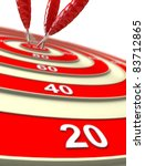 target. success concept. 3d... | Shutterstock . vector #83712865