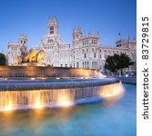 plaza de la cibeles  cybele's... | Shutterstock . vector #83729815