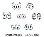 set of cartoon funny eyes for... | Shutterstock . vector #83733580