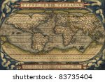 antique map of the world  ... | Shutterstock . vector #83735404