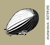 Dirigible. Vector