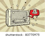 vintage radio background | Shutterstock .eps vector #83770975