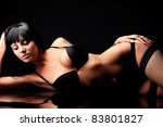 shot of a sexy woman in black... | Shutterstock . vector #83801827