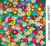 seamless flowers pattern  with... | Shutterstock .eps vector #83837557