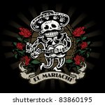 day of the dead mariachi... | Shutterstock .eps vector #83860195