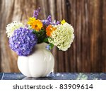 Bouquet Of Summer Flowers In A...