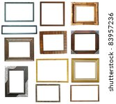 wooden frame isolated on white... | Shutterstock . vector #83957236