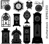 clock time timepiece antique... | Shutterstock .eps vector #83981353