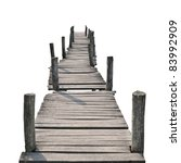 Wooden Foot Bridge Isolated On...