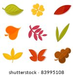 autumn leaves collection  ... | Shutterstock .eps vector #83995108