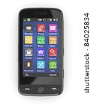 Black Mobile Phone On White...