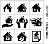 house insurance icons set. all... | Shutterstock .eps vector #84062059