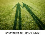 silhouettes over grass  ... | Shutterstock . vector #84064339