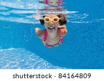 Happy Smiling Underwater Kid I...