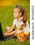 portrait of little smiling... | Shutterstock . vector #84166015