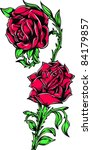 vector tattoo rose | Shutterstock .eps vector #84179857
