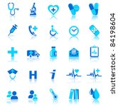 25 health care icons covering... | Shutterstock .eps vector #84198604