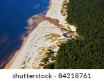 Aerial View Over Coastline And...