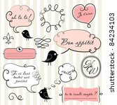 speech bubbles set in french... | Shutterstock .eps vector #84234103