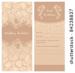 wedding invitation  flowers... | Shutterstock .eps vector #84238837
