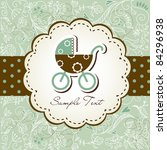 baby arrival announcement card | Shutterstock .eps vector #84296938