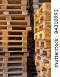 Used Wooden Euro Pallets Stacked