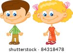 cartoon children | Shutterstock .eps vector #84318478
