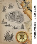pirate map set | Shutterstock . vector #84351325