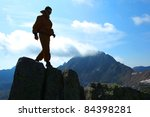 man in mountains of altai | Shutterstock . vector #84398281