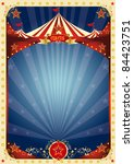 poster fun circus. a background ... | Shutterstock . vector #84423751