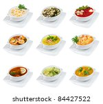 soups on a white background... | Shutterstock . vector #84427522