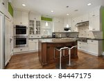 luxury kitchen with island and... | Shutterstock . vector #84447175