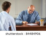 job interview  senior manager... | Shutterstock . vector #84484906
