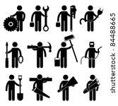 engineer mechanic plumber... | Shutterstock .eps vector #84488665