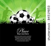 soccer players with ball on... | Shutterstock .eps vector #84519853