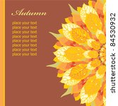 autumn floral card  template... | Shutterstock .eps vector #84530932