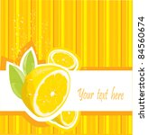 fresh lemon menu | Shutterstock .eps vector #84560674