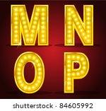set alphabet design with lamps   Shutterstock .eps vector #84605992