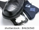 close up of man's shoe and socks   Shutterstock . vector #84626560